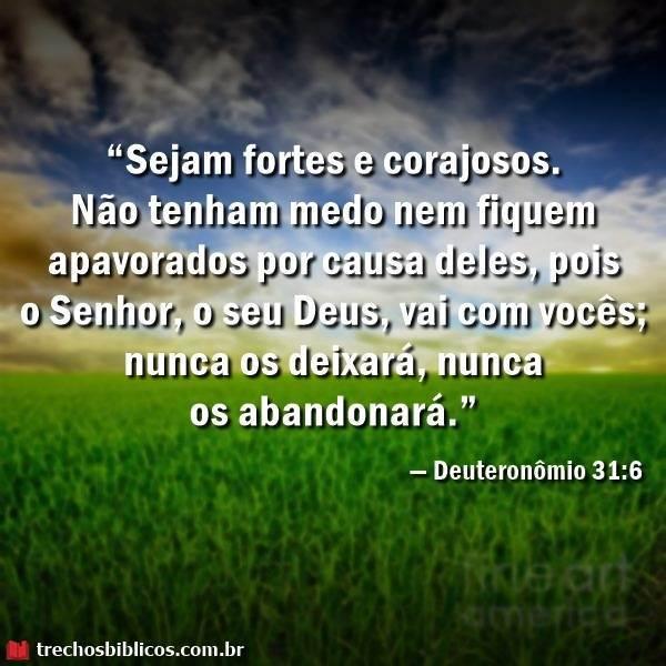 — Deuteronômio 31-6