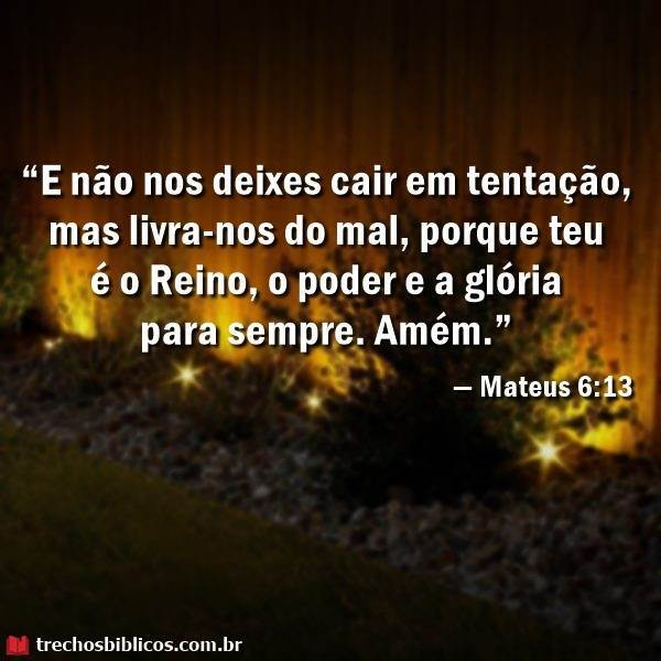 Mateus 6:13 5