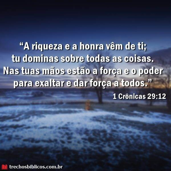 1 Crônicas 29-12