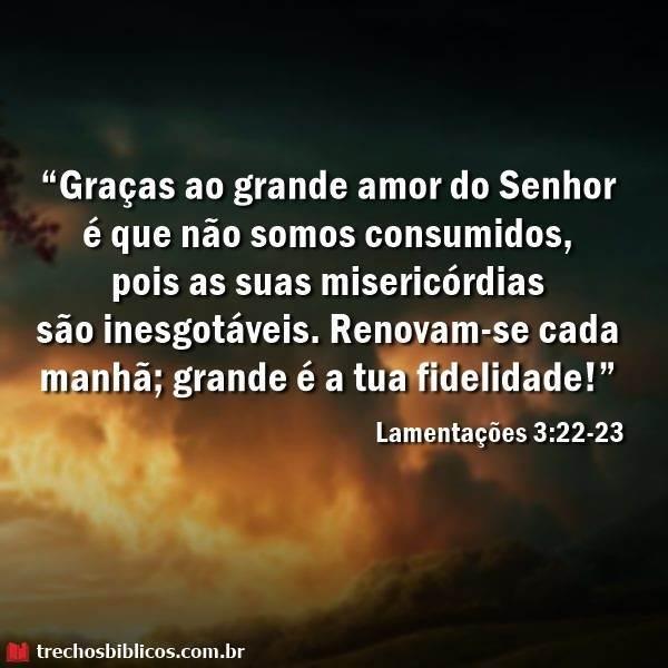 lamentações 3:22-23 2