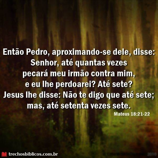 Mateus 18:21-22 27