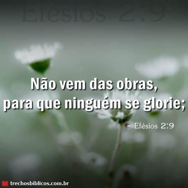 Efésios 2:9 10