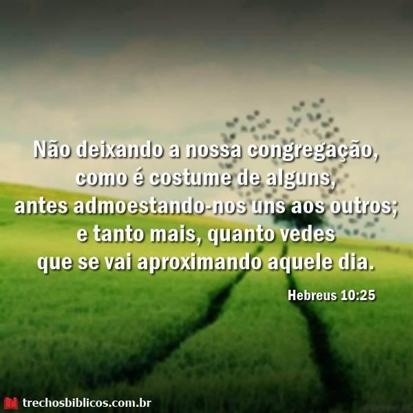 Hebreus 10:25 7