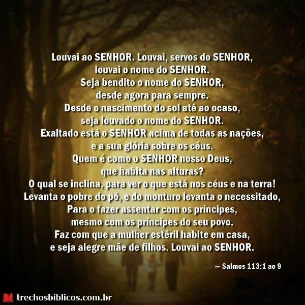 Salmos 113:1-9 11