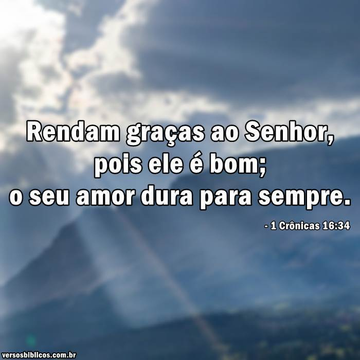 1 Crônicas 16:34 13
