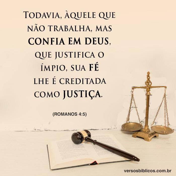 Quem Confia em Deus tem sua Fé como Justiça 4